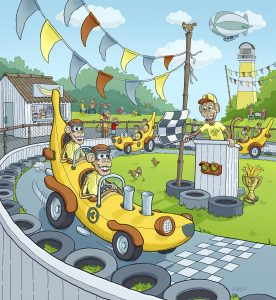 Banana Raceway | Gary Potts Illustration