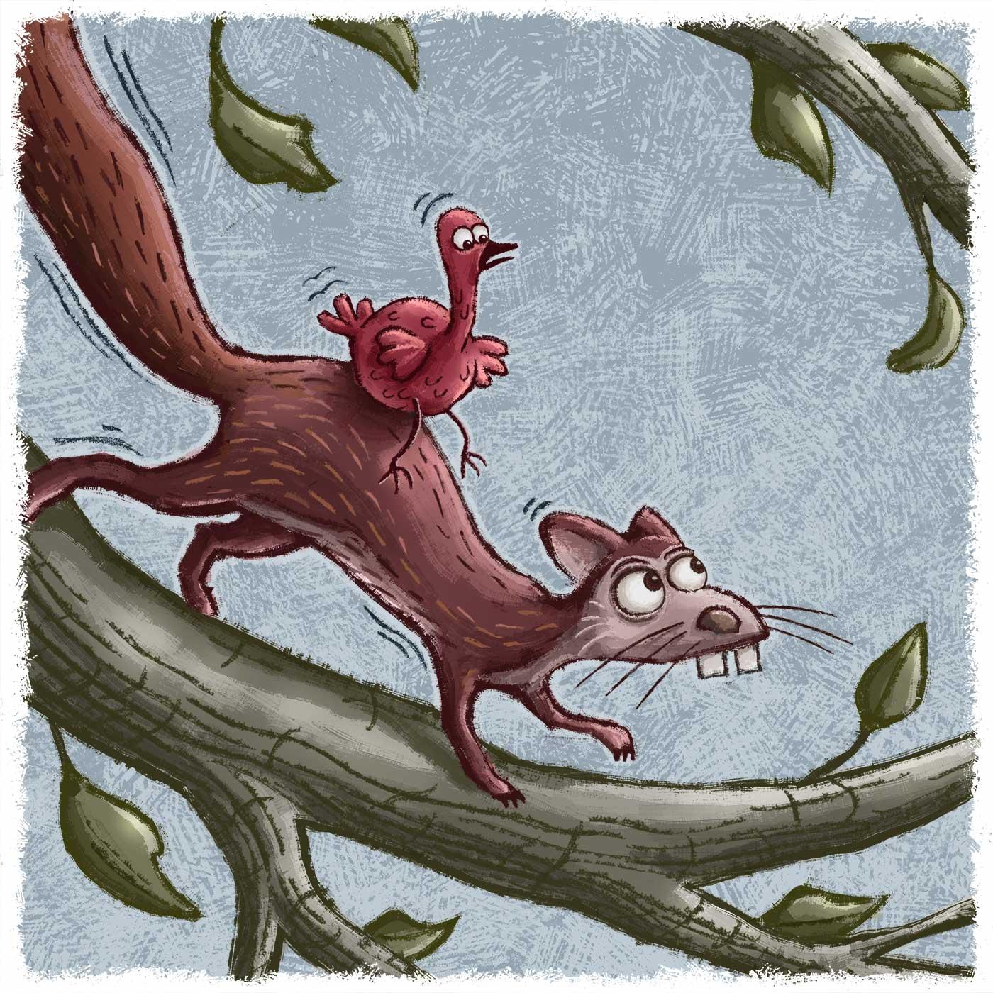 Squirrel Taxi | Gary Potts Illustration
