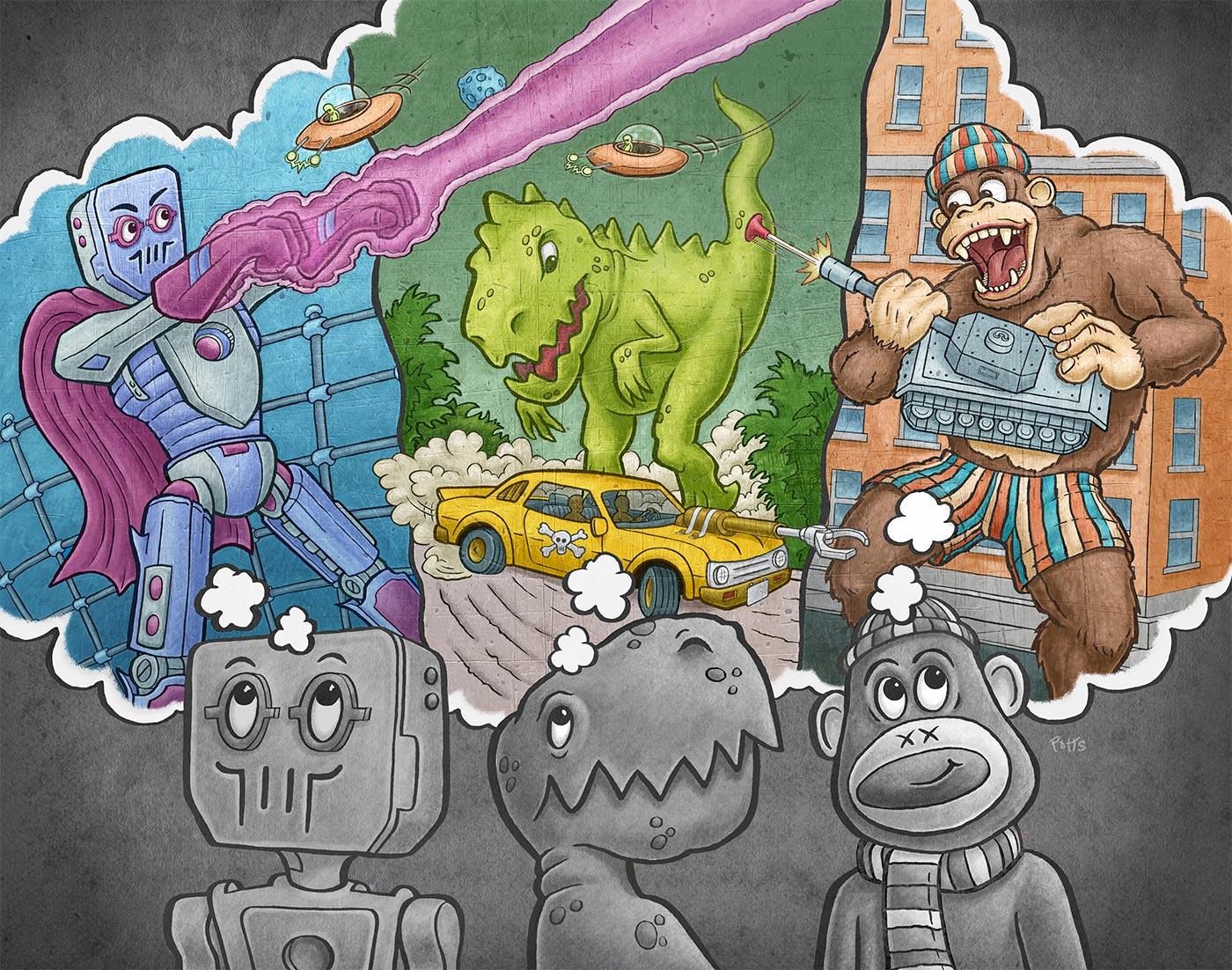 Dream Big | Gary Potts Illustration