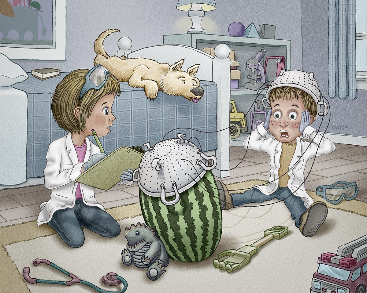 Telepathy | Gary Potts Illustration