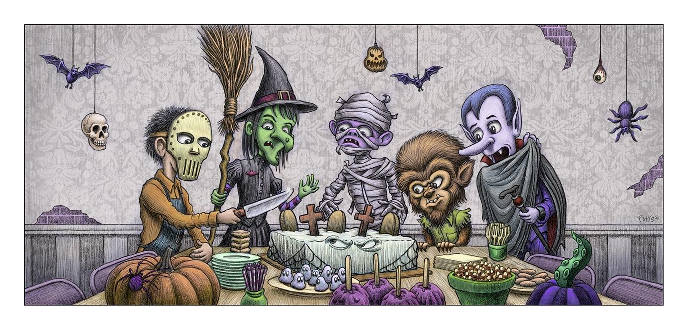 Spooky Treats | Gary Potts Illustration