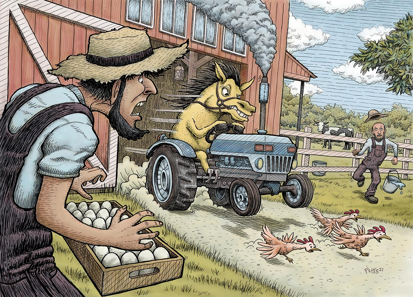 Trouble Horse | Gary Potts Illustration